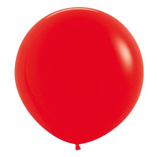 "Fashion Colour Solid Red 015 Latex Balloons 24""/60cm - 3 PC"